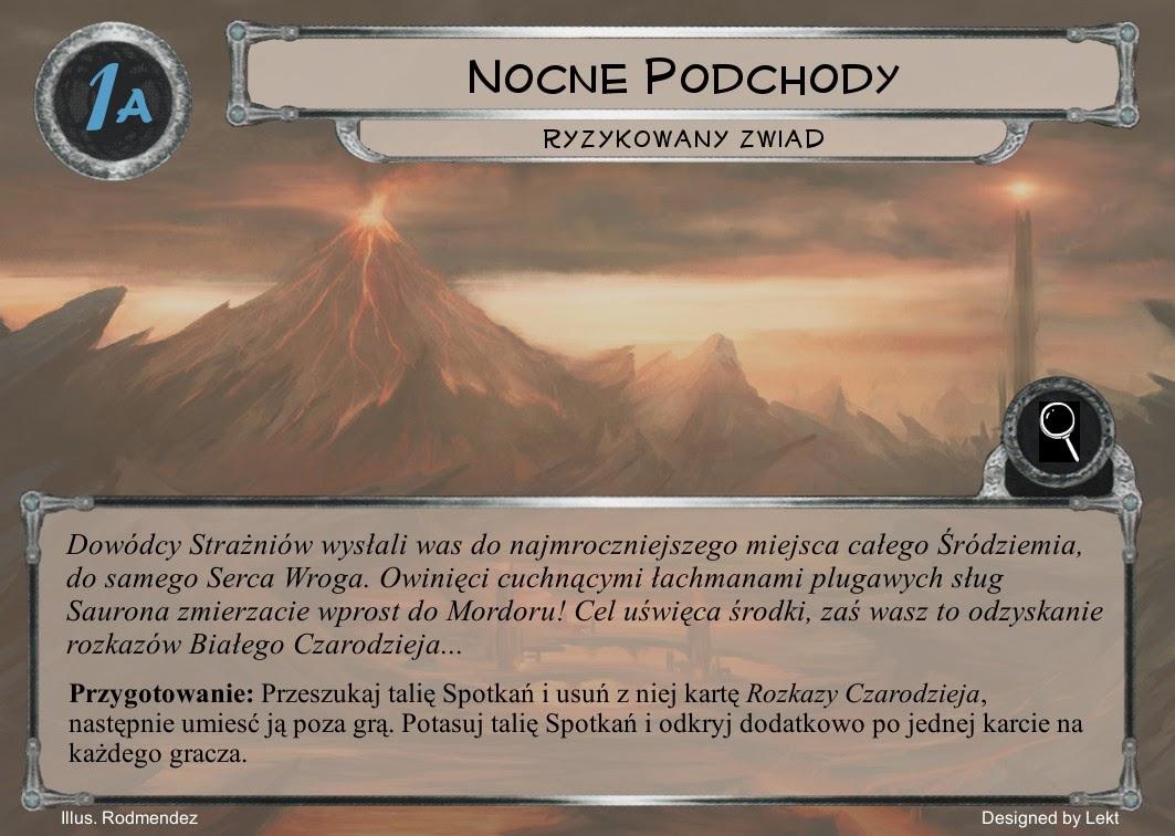 Robocza wersja pierwszej karty mordorskiego scenariusza