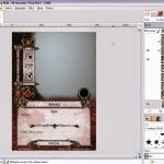 Przykładowa obróbka karty w programie GIMP