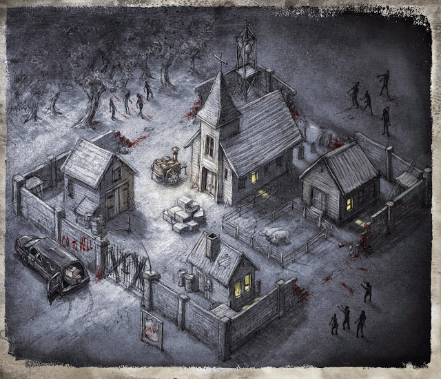 Atak Zombie plansza