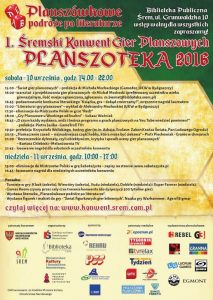 Śremski Konwent Gier Planszowych Planszoteka 2016